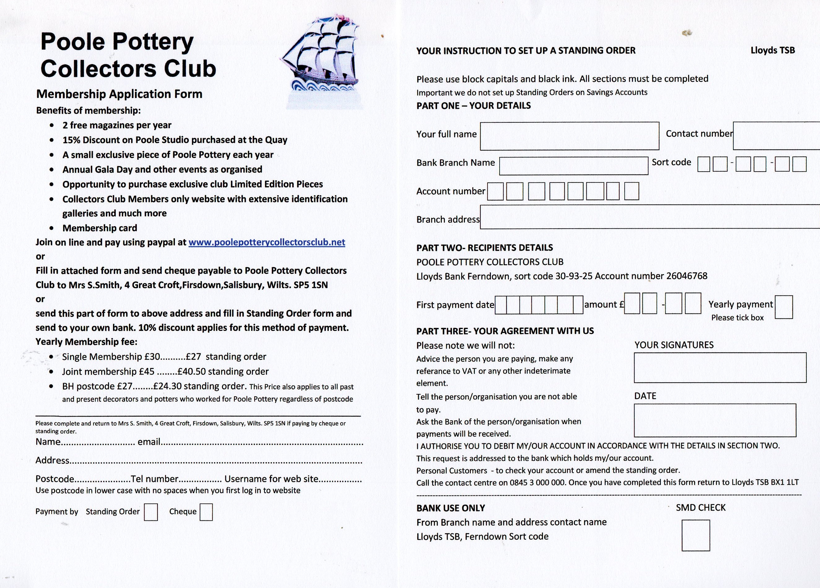 Membership form 13g download a printable standing order form here pronofoot35fo Choice Image